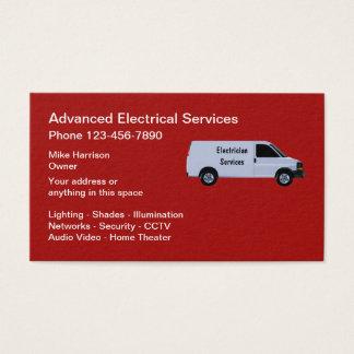 Cartão De Visitas Serviços avançados do eletricista