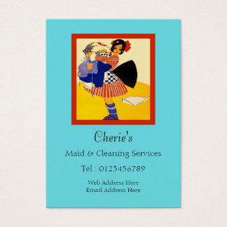Cartão De Visitas Serviços da empregada doméstica & da limpeza
