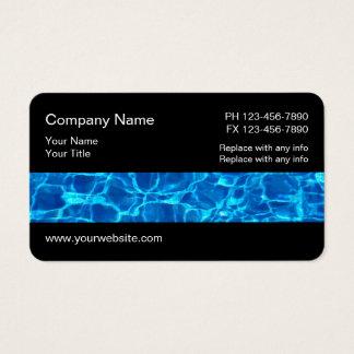 Cartão De Visitas Serviços da piscina