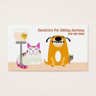 Cartão De Visitas Serviços de assento do animal de estimação