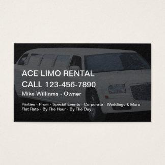 Cartão De Visitas Serviços do arrendamento do Limo
