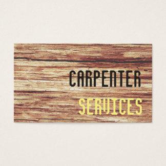 Cartão De Visitas serviços do carpinteiro