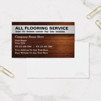 Cartão De Visitas Serviços do revestimento