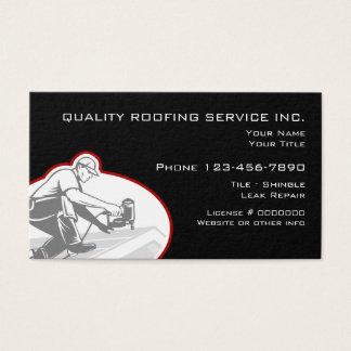 Cartão De Visitas Serviços do telhado e da construção
