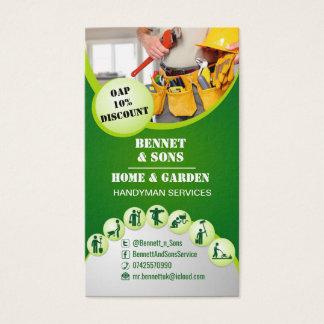 Cartão De Visitas Serviços do trabalhador manual