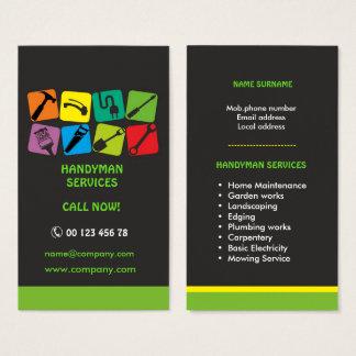 Cartão De Visitas Serviços do trabalhador manual, manutenção home
