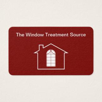 Cartão De Visitas Serviços do tratamento de janela