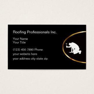 Cartão De Visitas Serviços elegantes do telhado