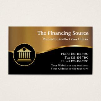 Cartão De Visitas Serviços financeiros elegantes