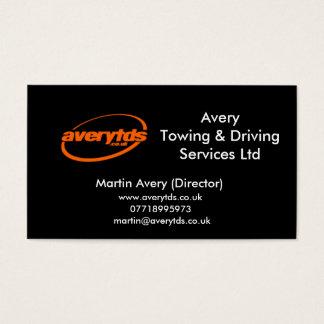 Cartão De Visitas Serviços Ltd de AveryTowing & de condução