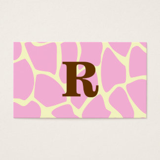 Cartão De Visitas Seu monograma do costume da letra. Cópia