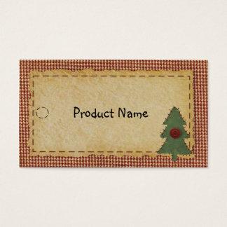 Cartão De Visitas Sew o Tag do cair da árvore de Natal