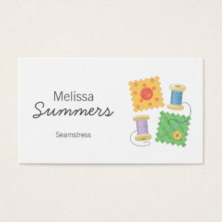 Cartão De Visitas Sewing, costureira, costureira