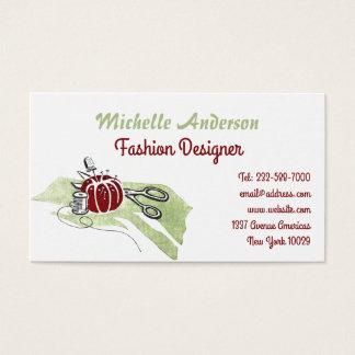 Cartão De Visitas Sewing e forma