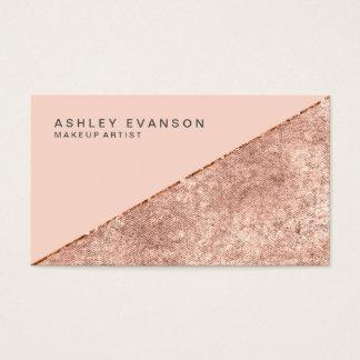 Cartão De Visitas Shimmer cor-de-rosa do ouro do maquilhador
