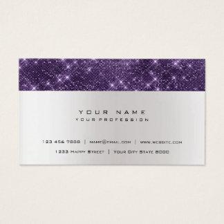 Cartão De Visitas Shimmer urbano de prata cinzento roxo Amethyst do