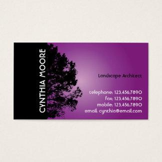 Cartão De Visitas Silhueta da árvore - roxo