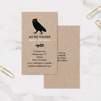 Cartão De Visitas Silhueta de passeio da coruja