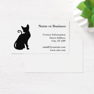Cartão De Visitas Silhueta do gato