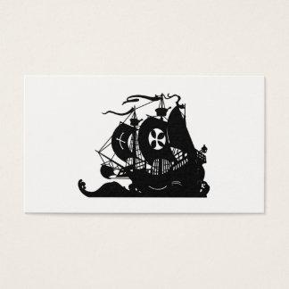 Cartão De Visitas Silhueta do navio