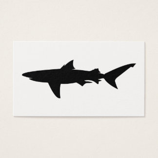 Cartão De Visitas Silhueta do tubarão
