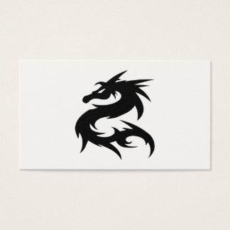 Cartão De Visitas Silhueta tribal do dragão