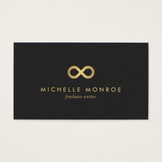 Cartão De Visitas Símbolo chique da infinidade do ouro do falso