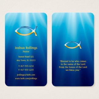 Cartão De Visitas Símbolo cristão | dos peixes inspirado