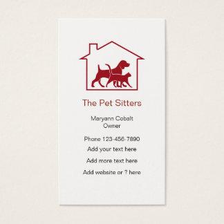 Cartão De Visitas Símbolo da casa do baby-sitter do animal de