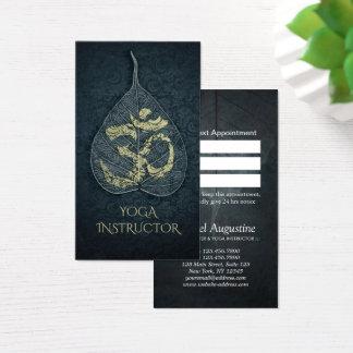 Cartão De Visitas Símbolo de OM da folha de Bodhi da nomeação do