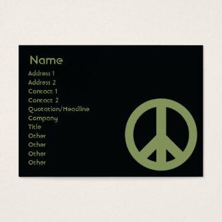 Cartão De Visitas Símbolo de paz - carnudo