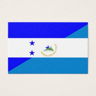 Cartão De Visitas símbolo do país da bandeira de honduras Nicarágua