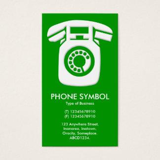 Cartão De Visitas Símbolo do telefone - verde (009900)