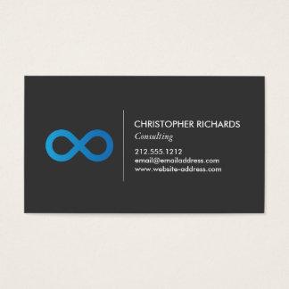 Cartão De Visitas Símbolo profissional da infinidade no azul