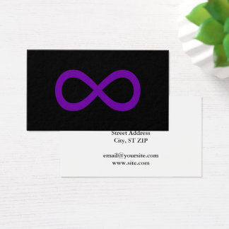 Cartão De Visitas Símbolo roxo da infinidade