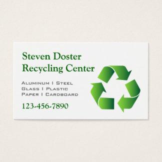 Cartão De Visitas Símbolo verde do reciclar