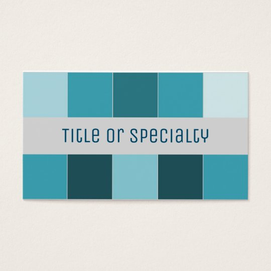 Cartão De Visitas Simple geometric blue and gray