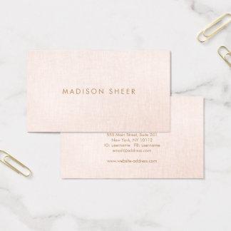 Cartão De Visitas Simples, a luz cora Minimalistic cor-de-rosa, à