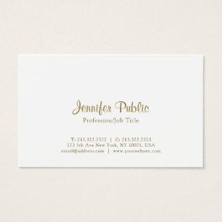 Cartão De Visitas Simples branco elegante moderno criativo