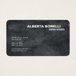 Cartão De Visitas Simples cinzento minimalista elegante liso moderno