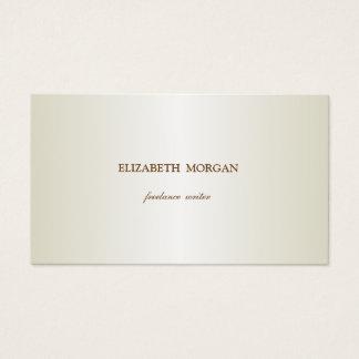 Cartão De Visitas Simples elegante, minimalista