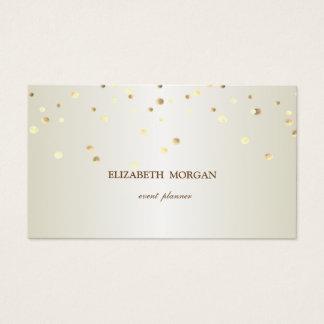 Cartão De Visitas Simples elegante, minimalista, Conffeti
