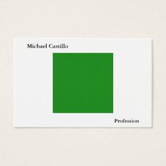 Cartão De Visitas Simples liso moderno minimalista branco de Forest