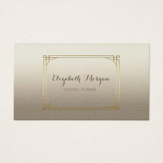 Cartão De Visitas Simples moderno à moda elegante