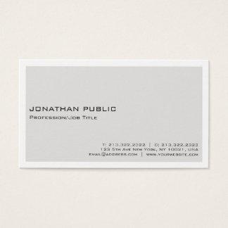 Cartão De Visitas Simples profissional branco bege elegante moderno