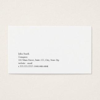 Cartão De Visitas Simplicidade II