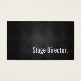 Cartão De Visitas Simplicidade preta legal do diretor de palco metal