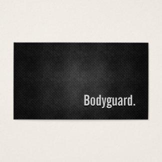 Cartão De Visitas Simplicidade preta legal do metal da escolta