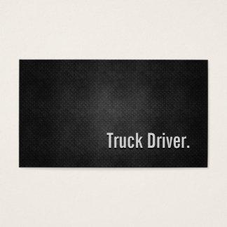 Cartão De Visitas Simplicidade preta legal do metal do camionista