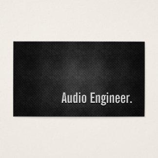 Cartão De Visitas Simplicidade preta legal do metal do engenheiro